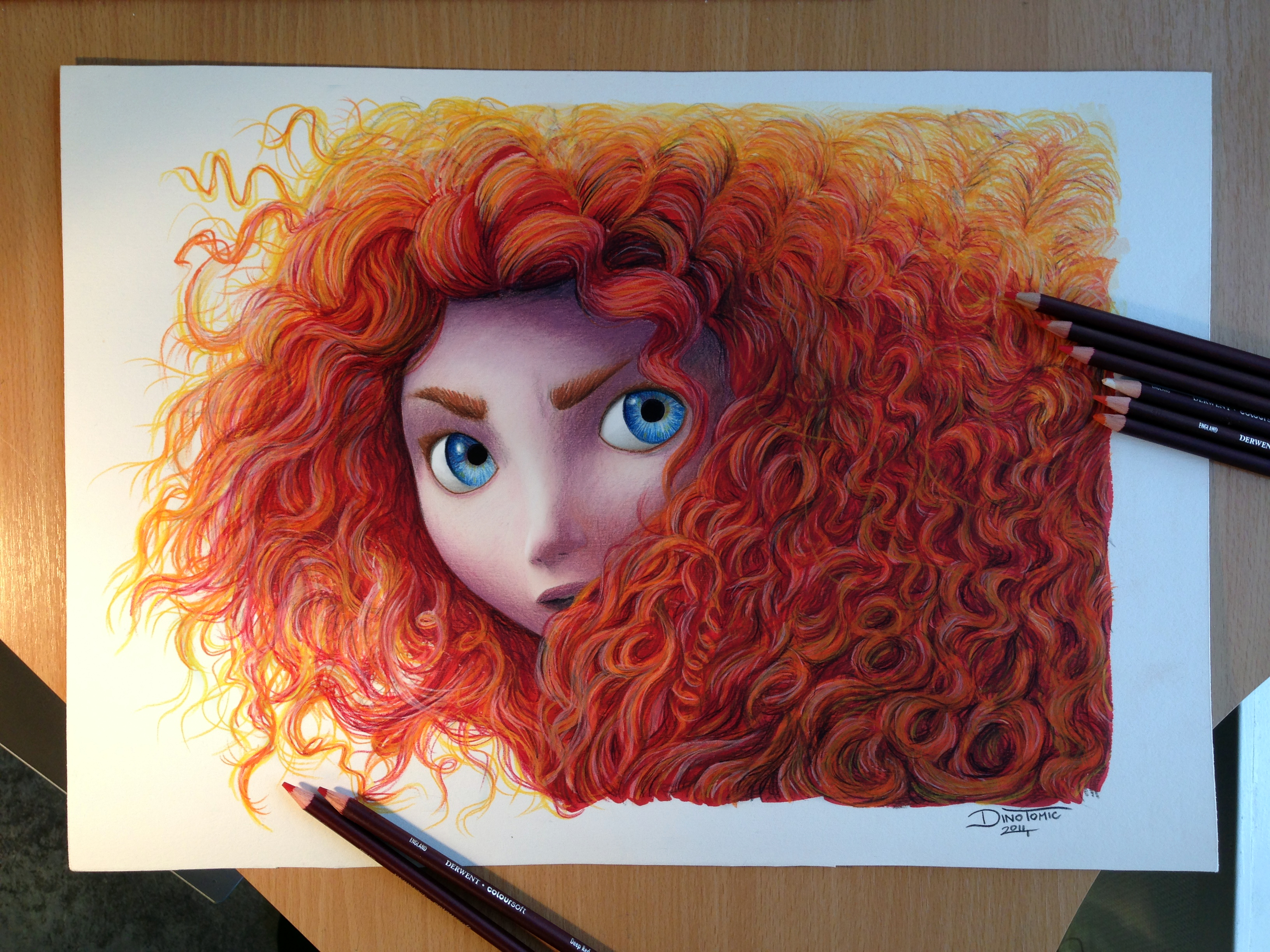 How to draw with colored pencils - Merida Color Pencil Drawing By Atomiccircus Merida Color Pencil Drawing By Atomiccircus
