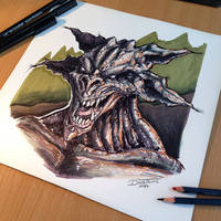 Monster done with Markers