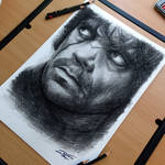 Tyrion Lannister charcoal pencil drawing