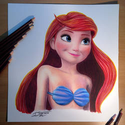 Ariel Color Pencil Drawing