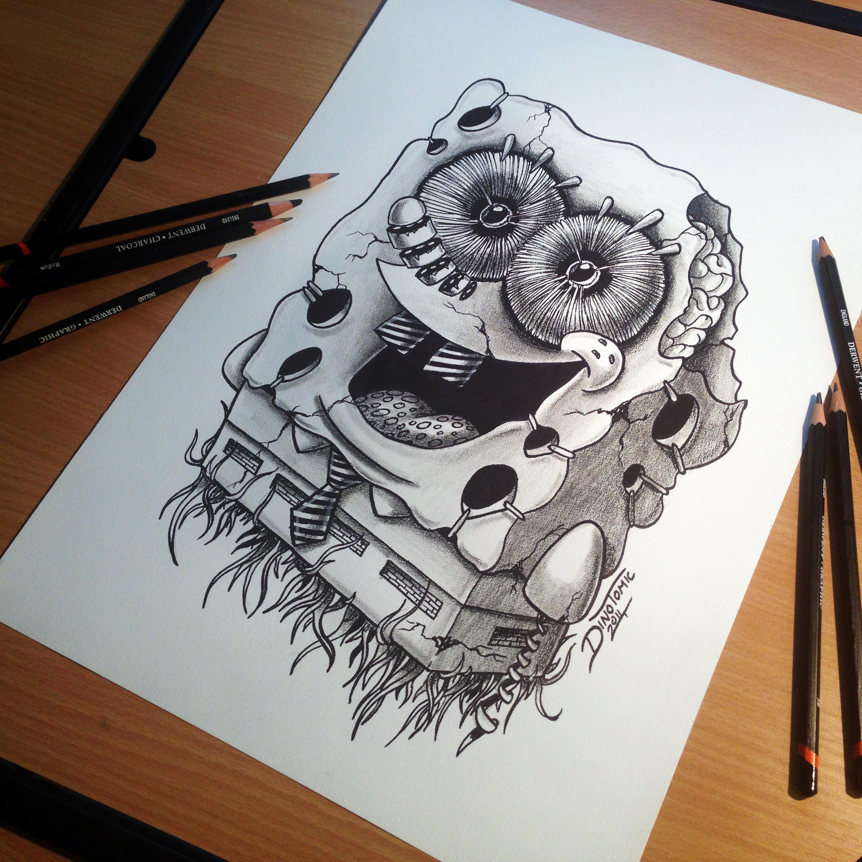 Sponge Bob Drawing By AtomiccircuS On DeviantArt