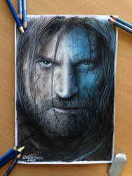 Jaime Lannister Color Pencil Drawing by AtomiccircuS