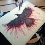 Crow Color Pencil Drawing