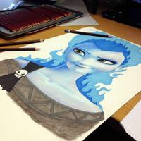 Elsa/Hades crossover pencil drawing Teaser