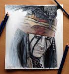 Johnny Depp Lone Ranger Pencil drawing