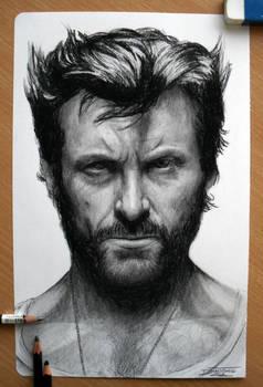 Hugh Jackman Pencil drawing as Wolverine