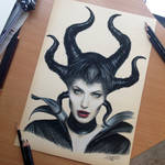 Maleficent Color Pencil Drawing