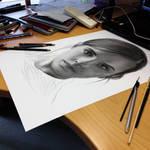 Emma Watson in progress ( pencil )