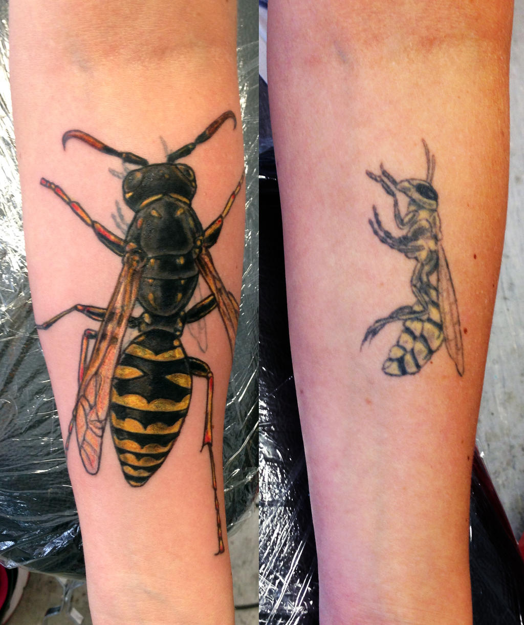 Wasp tattoo cover up