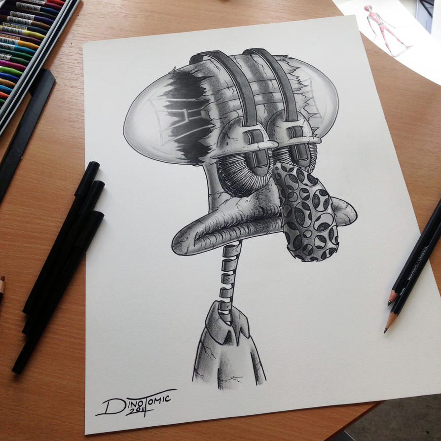 Tadeus Pencil Drawing by AtomiccircuS