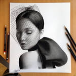 Jennifer Lawrence Pencil / Charcoal Drawing