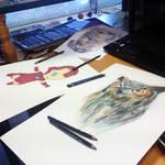 Drawing 3 drawings at once ( progress )