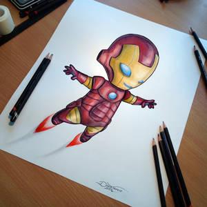 Baby Iron Man Pencil Drawing