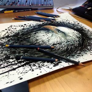 Eagle Splatter Drawing ( progress )