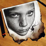 Girl Pencil Drawing by AtomiccircuS