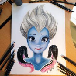 Ursula Color Pencil Drawing