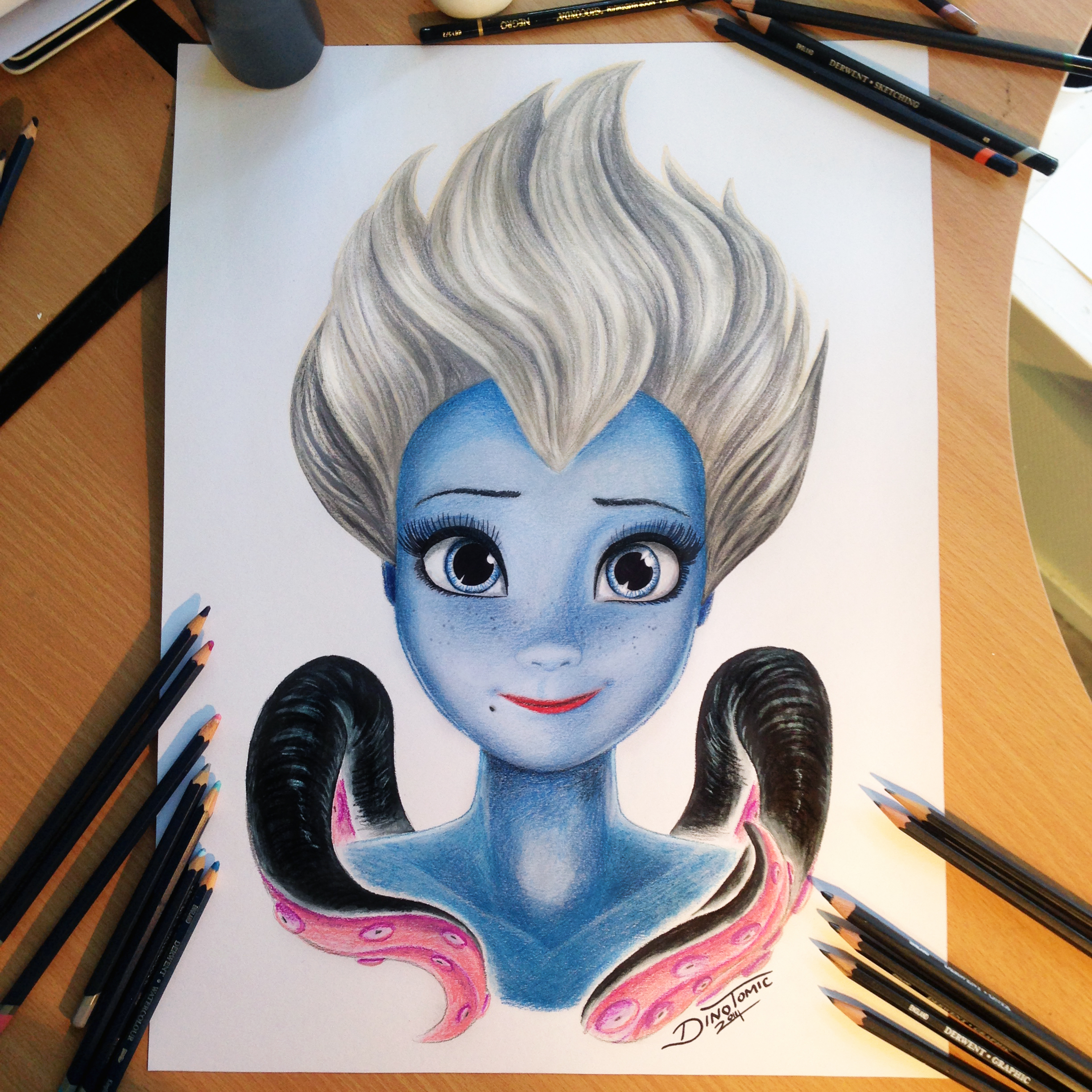 ursula color pencil drawing by atomiccircus on deviantart