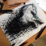 Horse Splatter Drawing