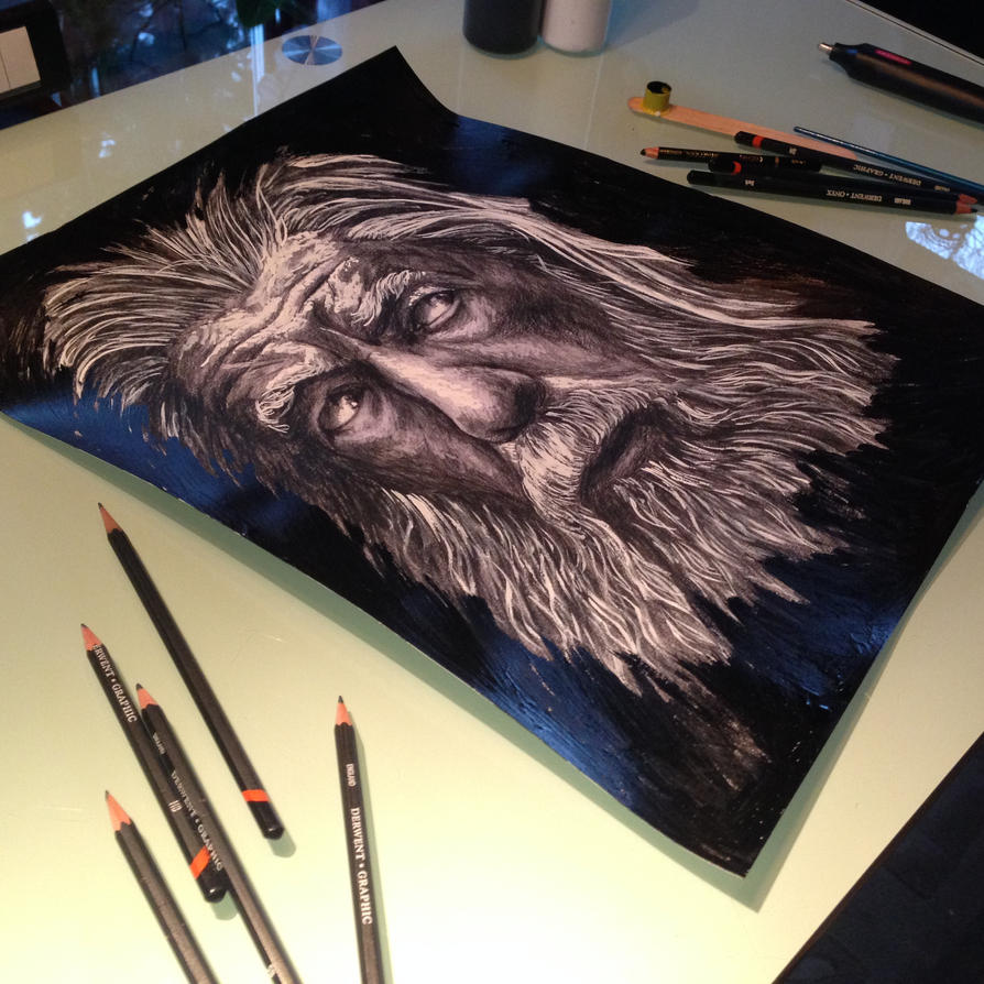 Gandalf second drawing Teaser by AtomiccircuS
