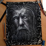 Gandalf Pencil Drawing