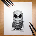 Minnion Jack Skellington Drawing
