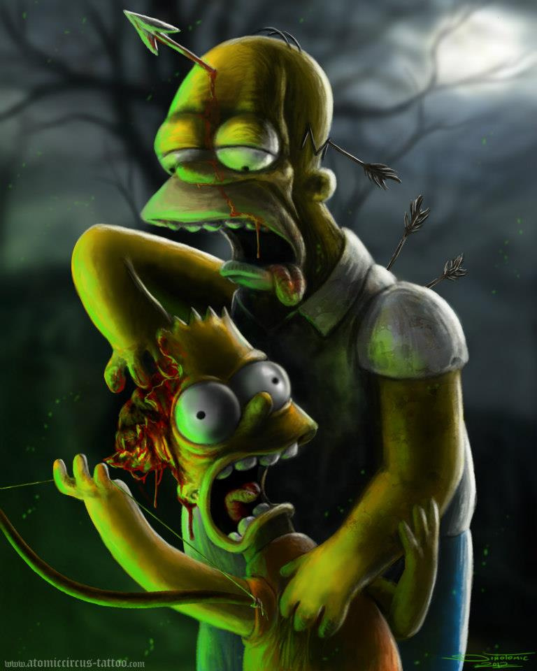 Zombie Simpsons  Digital Painting