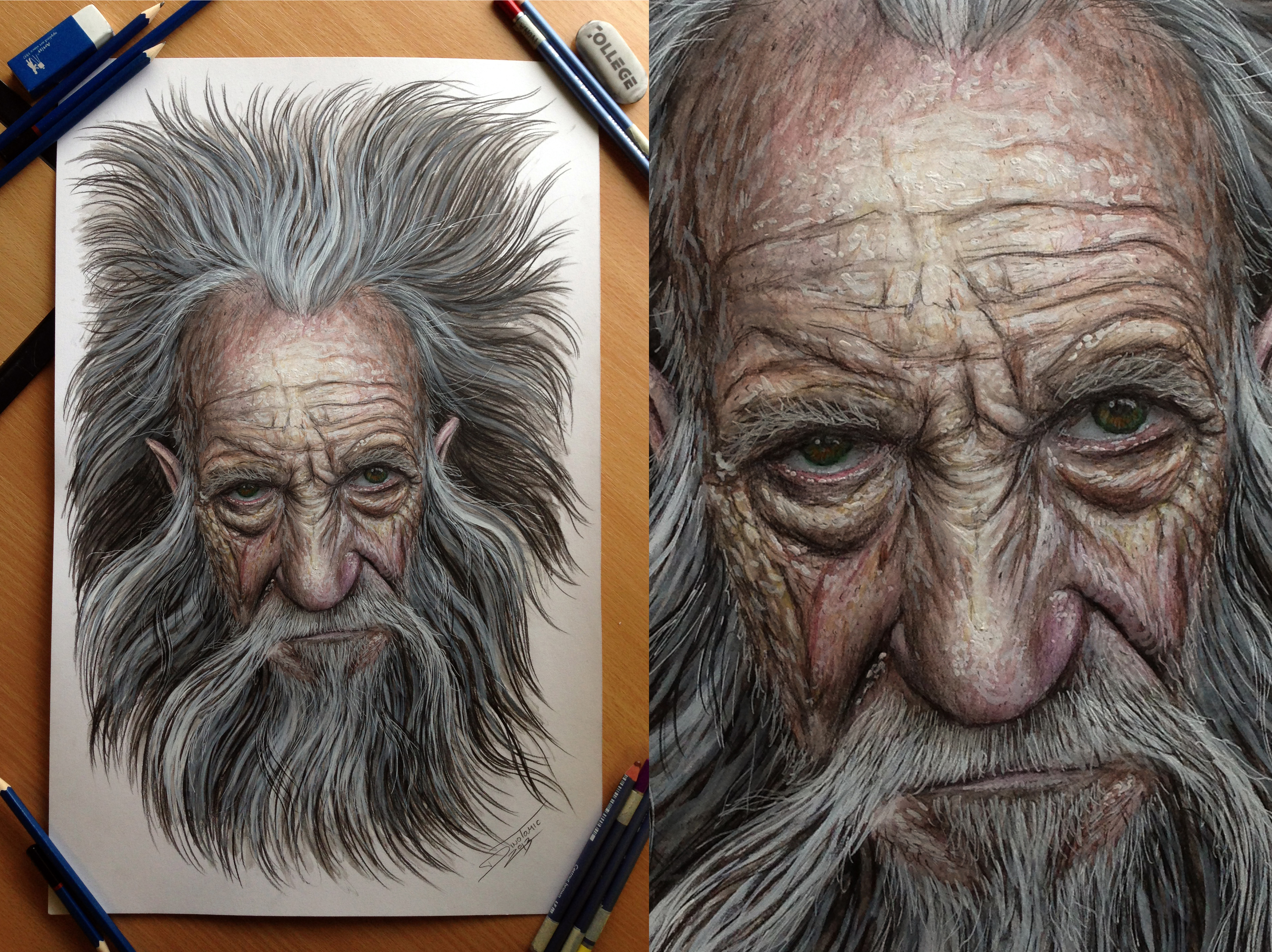 old mans face drawing - photo #21