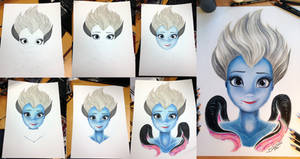 Ursula Color Pencil Drawing step by step