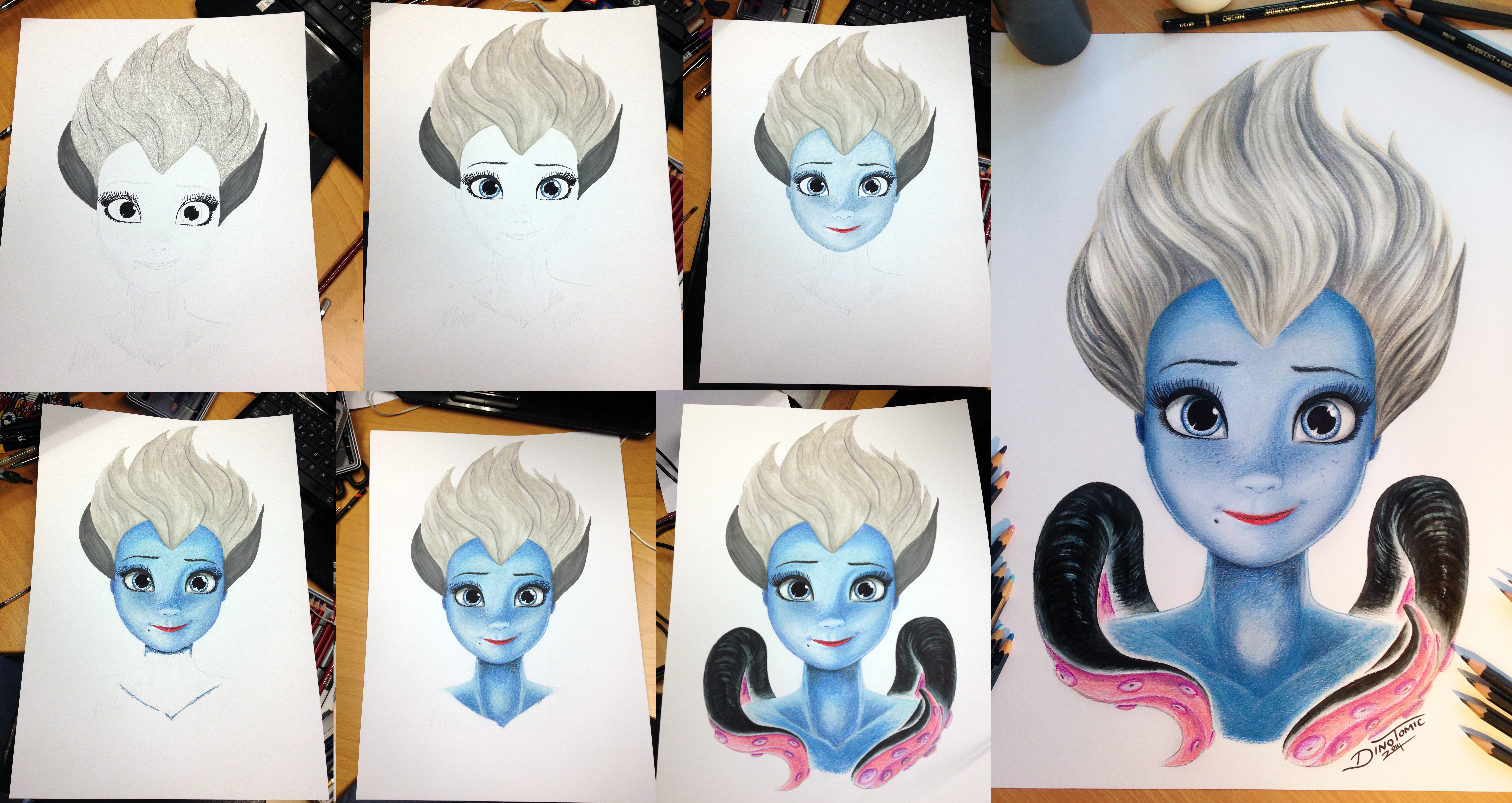 Co color to draw - Co Color Drawing Pencils Ursula Color Pencil Drawing Step By Step By Atomiccircus