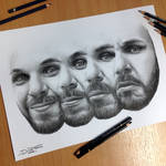 Me my self and I Pencil Drawing