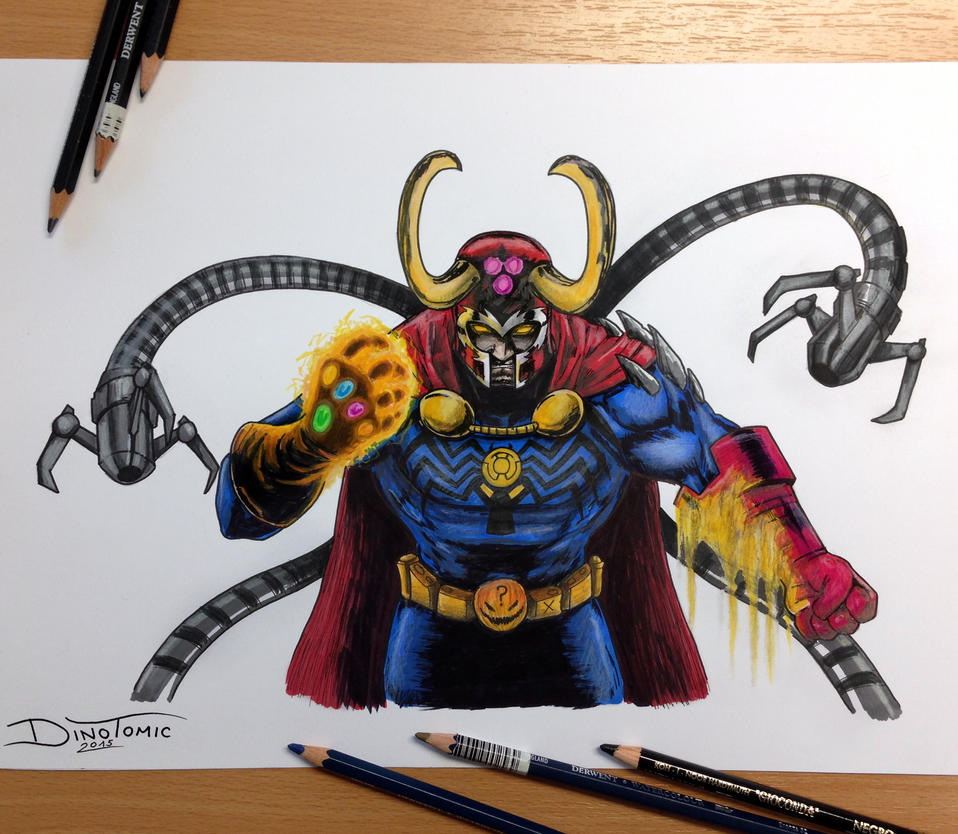 17 Villains Combined into one Pencil Drawing by ...