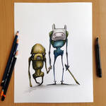 Jake and Finn Adventure Time Sketch