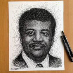 Neil Degrasse Tyson Pen Sketch
