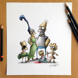 Simpsons Creepy Drawing