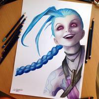 Jinx Color Pencil Drawing