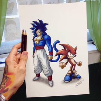 Goku / Sonic Color Swap Drawing