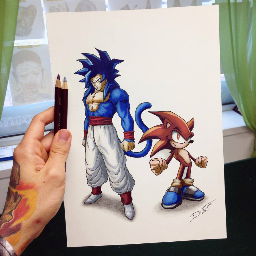Goku / Sonic Color Swap Drawing by AtomiccircuS on DeviantArt