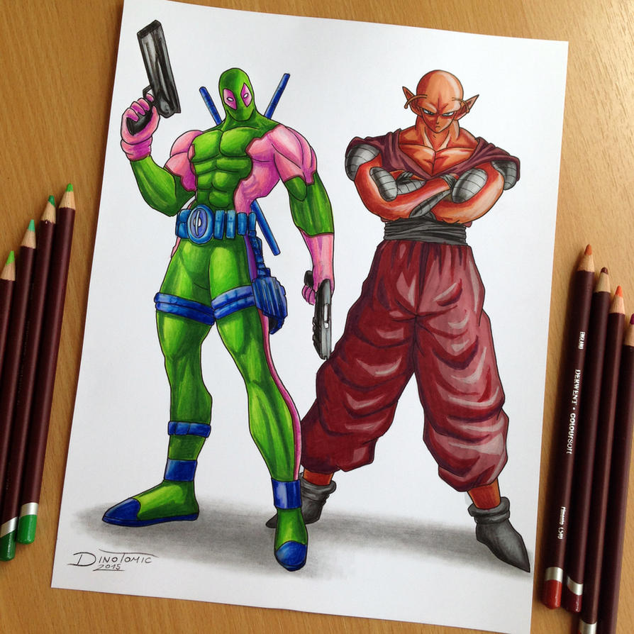 Dead Pool / Piccolo Color Swap Drawing by AtomiccircuS
