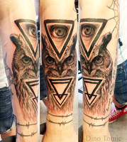 Owl Tattoo by AtomiccircuS