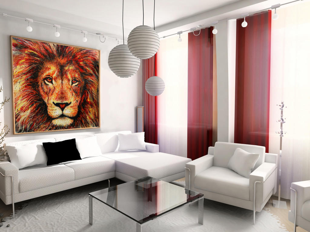Lion Painting for Sale by AtomiccircuS