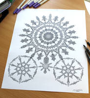 Line Pen Drawing by AtomiccircuS