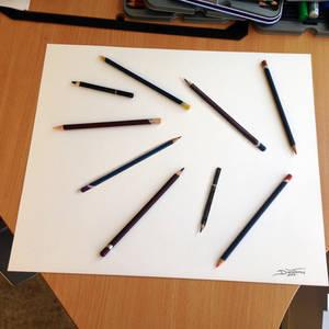 Real Pencil illusion drawing