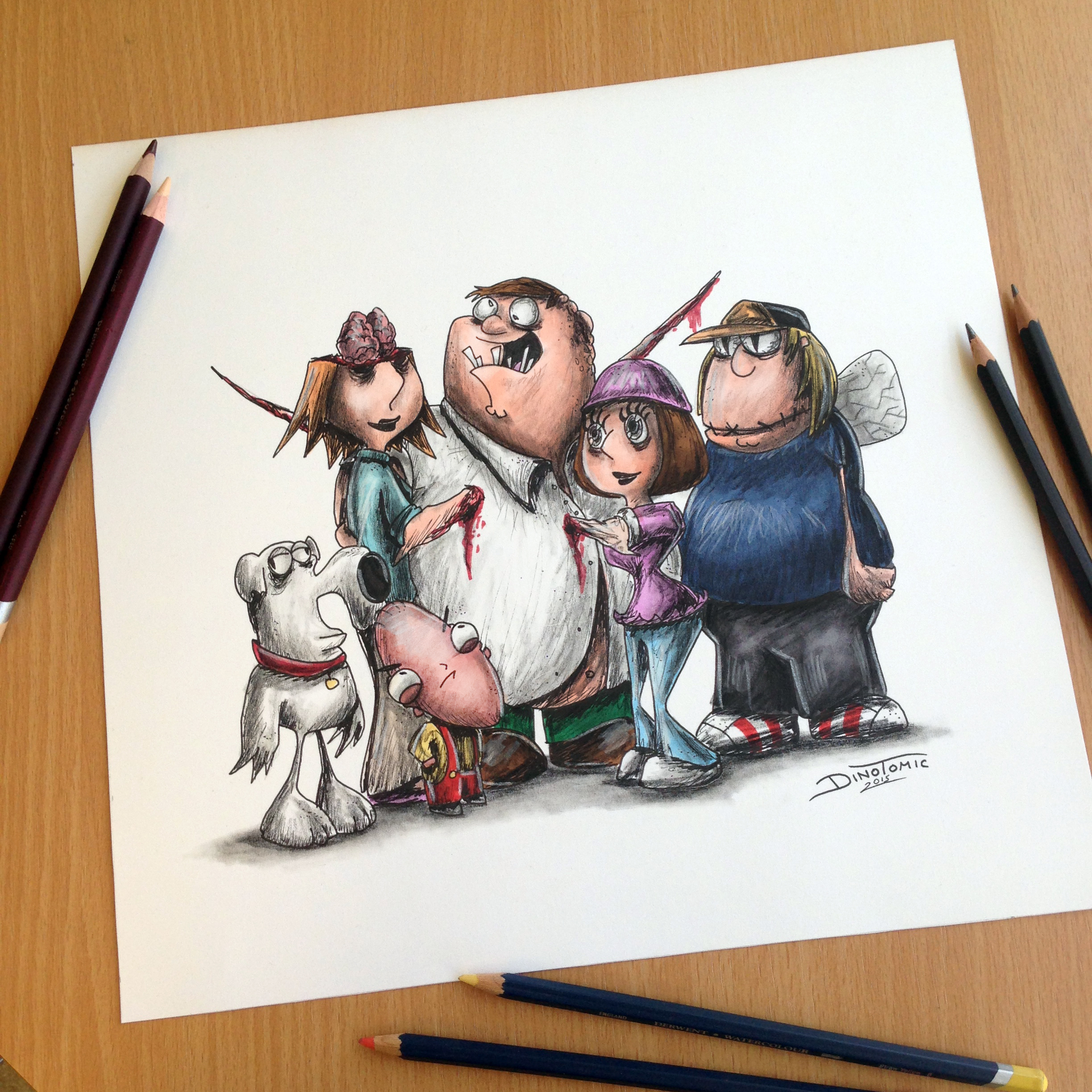 Creepy Family Guy Drawing By AtomiccircuS On DeviantArt