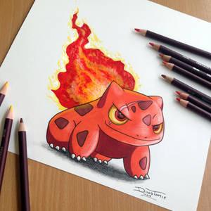 Bulbasaur Fire Starter Drawing