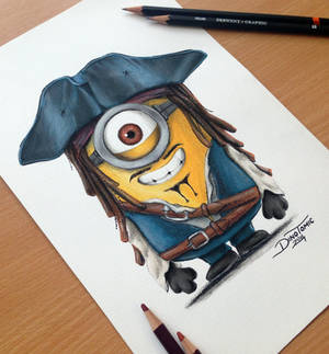 Minion Jack Sparrow Drawing
