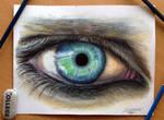 Eye color pencil drawing