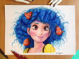 Dory Color Pencil Drawing