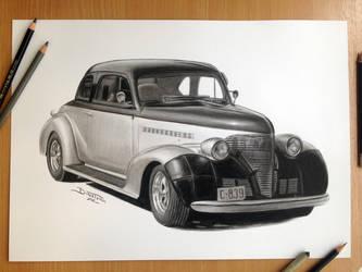 Car Pencil Drawing