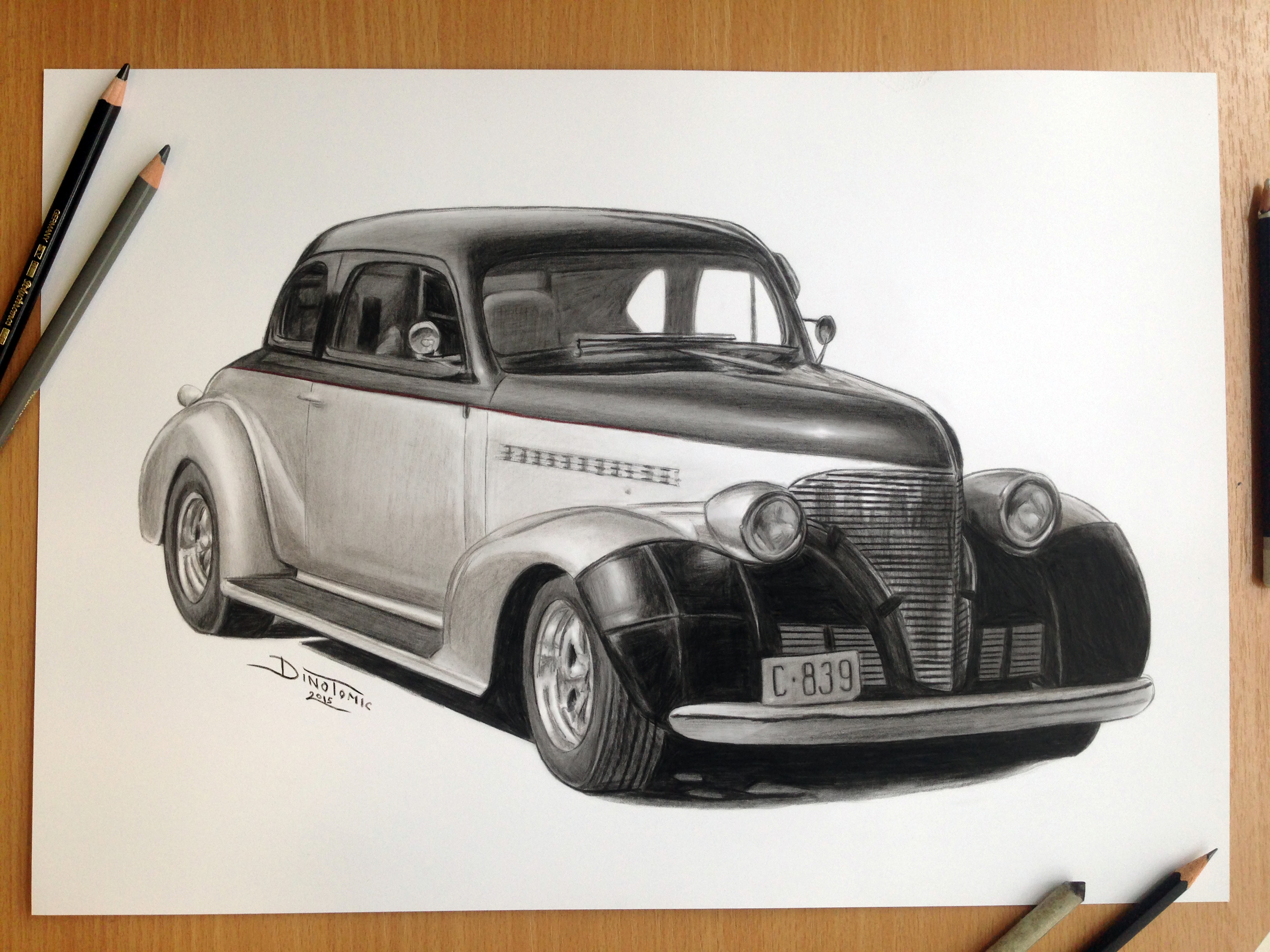 Car Pencil Drawing by AtomiccircuS on DeviantArt