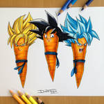 Goku Carrot Drawing